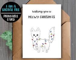 digital download unicorn christmas card printable christmas