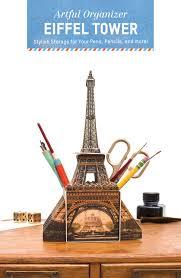 artful organizer eiffel tower stylish storage for your pens
