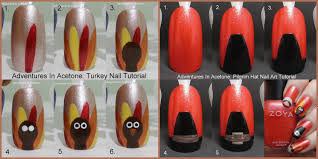 tutorial for the best thanksgiving turkey on design nails top thanksgiving nail designs with this easy nail