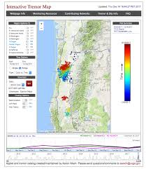 Roseburg Oregon Map December 2017 Oregon Tremor Event Pacific Northwest Seismic Network