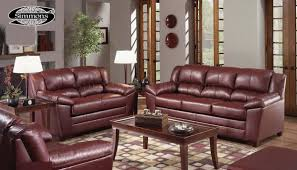 4955 wine bonded leather sofa loveseat set by just in time