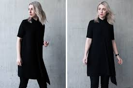 minimal and clean style inspiration dress over pants ideas
