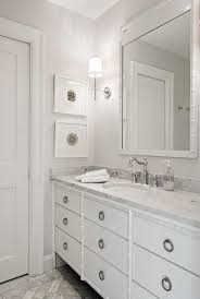 White Bathroom Vanity Mirror White Bamboo Bathroom Vanity Transitional Bathroom