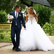 Princess Wedding Dresses New White Ivory Beaded Corset Big Puffy Princess Wedding Dresses
