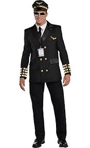 Captain Halloween Costume Captain Wingman Pilot Costume Costumes
