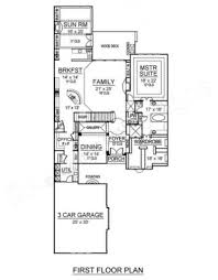 First Floor House Plan Belton Woods Narrow House Plans Luxury House Plans