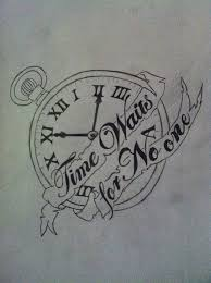 31 best time waits for no body tattoo designs images on pinterest