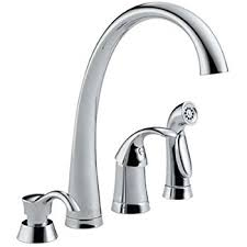 moen kitchen faucet with soap dispenser delta 4380 sd dst pilar single handle kitchen faucet with spray