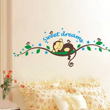 sweet dream monkey vine wall stickers decals for living room see larger image