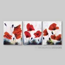 Wall Art Images Home Decor Red Poppy Wall Art Red Poppy Painting Reprint Home Decor