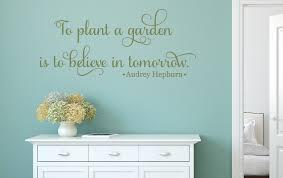 to plant a garden wall decal tweetheartwallart