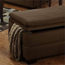 amazon com simmons upholstery luna storage ottoman chocolate