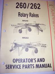 vintage gehl co operators manual rr 262 rr 262 rotary rakes
