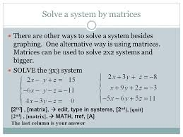 4 solve a system
