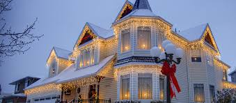 Christmas Lights On House by Christmas Yard Decorations Whole For Lights On House Ideas