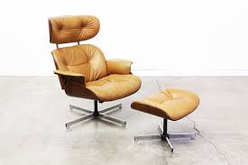 retro chair and ottoman vintage eames style lounge chair and ottoman redaktif com