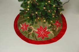 Lighted Christmas Tree Skirt Poinsettia Christmas Tree Skirts Christmas Wikii