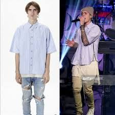 streetwear hiphop mens clothing justin bieber designer shirts