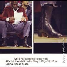 Michael Jordan Shoe Meme - while yall struggling to get them 11 s michael chillin in his mary
