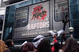 Air Canada Centre Floor Plan Drake Surprises Raptors Fans At Jurassic Park But Pacers Dominate