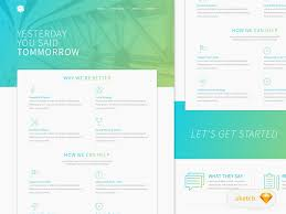 corporate website green template u2013 sketch resource u2013 uxfree com
