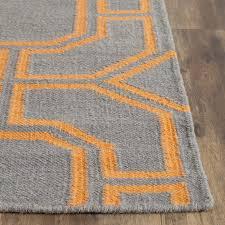 Area Rugs Richmond Bc Safavieh Dhurries Woven Wool Gray Orange Area Rug Reviews