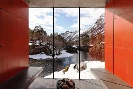 Juvet Landscape Hotel by Juvet Landscape Hotel River Sauna Jensen U0026 Skodvin