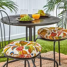 15 inch round outdoor esprit bistro chair cushions set of 2