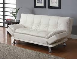 Twin Sofa Bed Chair Coaster 300291 Dilleston White Futon Sleeper Sofa Bed