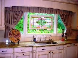 kitchen curtains ideas and window treatments design also granite