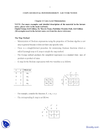K Map Gate Level Minimization Design And Analysis Lecture Notes