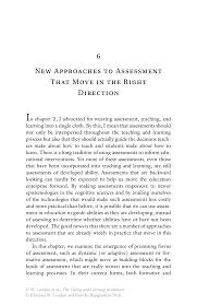 new approaches to assessment that move in the right direction