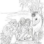 download coloring pages nativity scene within snap cara org