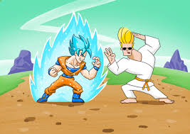 johnny bravo goku vs johnny bravo this wont end well by justgeoffsart on