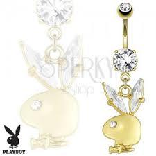 piercing buric aur steel belly piercing golden colour bunny clear zircons