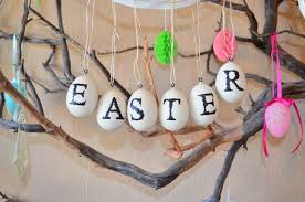 happy easter decorations easter branch decor tourist of