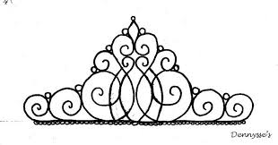 tiara template for cake topper yummy stuff pinterest piping