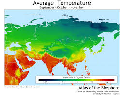 Europe Temperature Map by Center For Sustainability And The Global Environment Sage