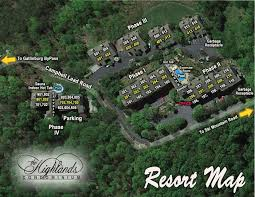 Map Of Gatlinburg Tennessee by Highlands Condos Resort Map
