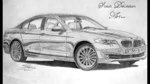 bmw car pencil sketch bmw 5 series drawing youtube drawing art