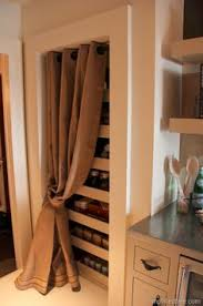 Curtain As Closet Door Fabric Cover Up 8 Great Makeovers For Kitchen Pantry Doors
