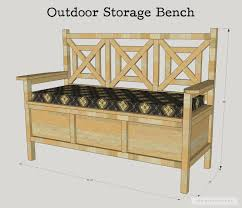 Free Wooden Garden Bench Plans by How To Build A Diy Outdoor Storage Bench