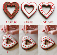 simple heart valentine u0027s cookies decorating how to u2013 glorious treats