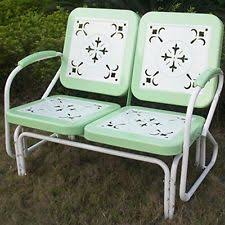Old Metal Outdoor Furniture by Retro Metal Patio Loveseat Vintage Style Outdoor Chair Furniture