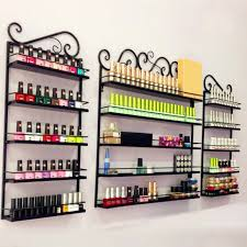 6 tier black nail polish display wall rack metal organizer holds