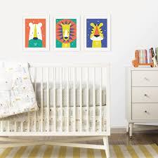 Baby Nursery Decoration by Animal Bright Modern Baby Nursery Wall Art Trio By Paper Joy