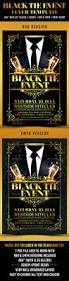 black tie event flyer template u2014 photoshop psd classic ladies