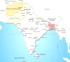 Asia Maps by South Asia Map With Cities Evenakliyat Biz