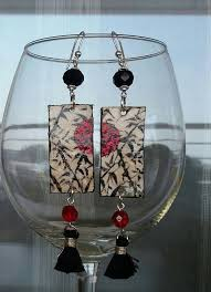 paper mache earrings paper mache earrings