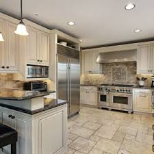 Tops Kitchen Cabinets by Luxury Kitchen Design With Off White Painting Kitchen Cabinet Las
